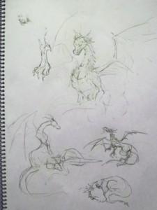 ドラゴンのスケッチ