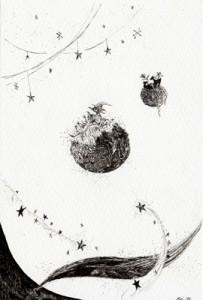 2015年に描いたペン画です。作者:若松芽衣