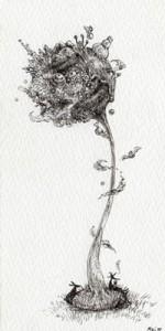 2014年に描いたペン画です。作者:若松芽衣
