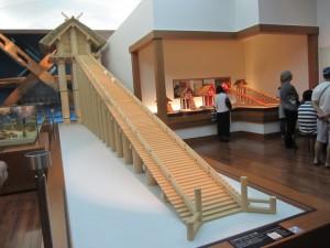 島根・鳥取旅行2日目に行った博物館の古代神殿模型