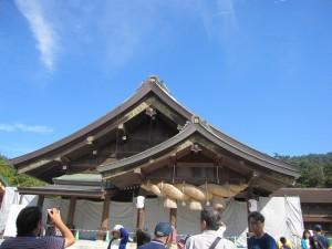 島根・鳥取旅行2日目に行った出雲大社の拝殿。