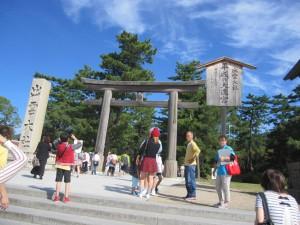 島根・鳥取旅行2日目に行った出雲大社の鳥居。