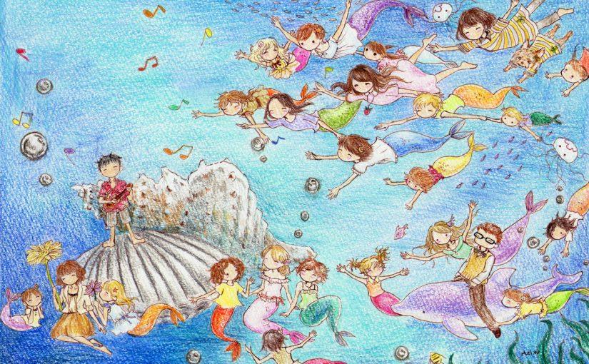 絵の中にご招待!ようこそ、人魚の世界へ!