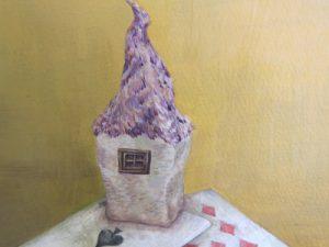 WakamatsuMeiが2015年に制作した『魔女の家』という作品の家の部分のアップ